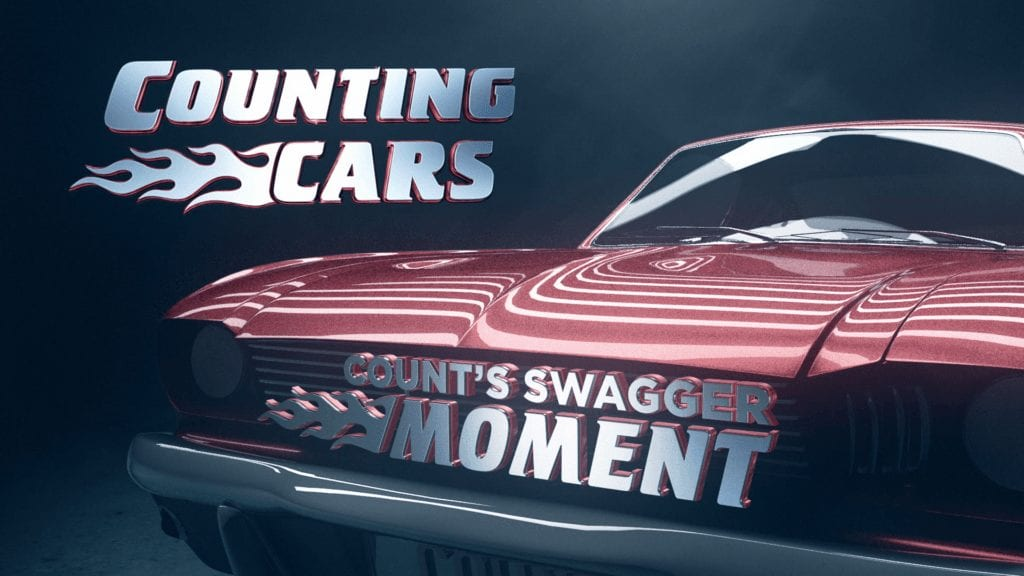 Broadcast design for History Channel Counting Cars promo video